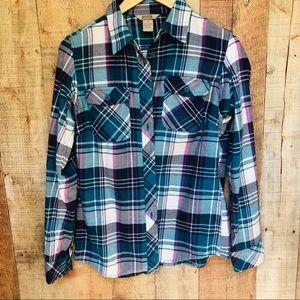 Duluth Trading co. Free swing flannel shirt